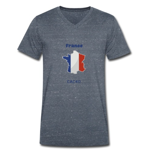 france - Men's Organic V-Neck T-Shirt by Stanley & Stella