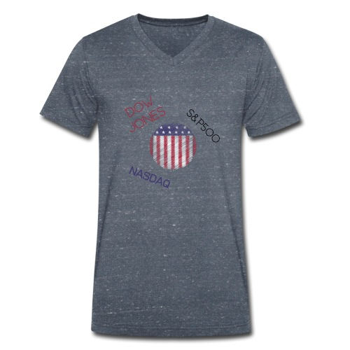 USA - Men's Organic V-Neck T-Shirt by Stanley & Stella