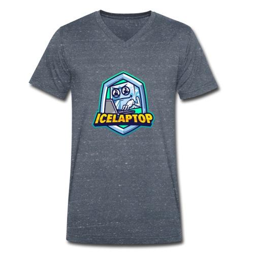 icelaptop LOGO - Männer Bio-T-Shirt mit V-Ausschnitt von Stanley & Stella