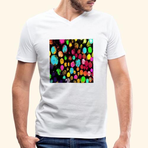 Tronchi arcobaleno - T-shirt ecologica da uomo con scollo a V di Stanley & Stella