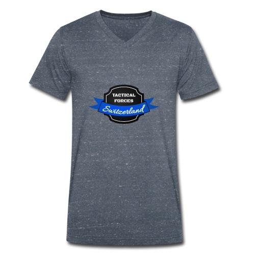TFS Ruban noir et bleu - T-shirt bio col V Stanley & Stella Homme