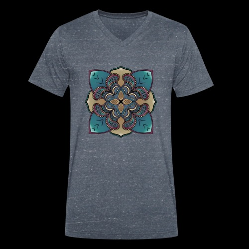 cute Mandala style design - Men's Organic V-Neck T-Shirt by Stanley & Stella