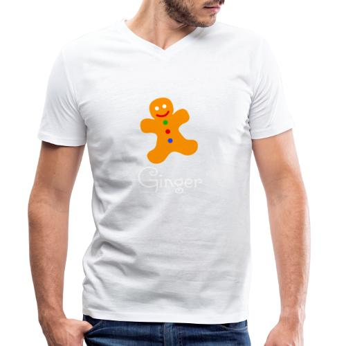 Gingerbread Man - Men's Organic V-Neck T-Shirt by Stanley & Stella