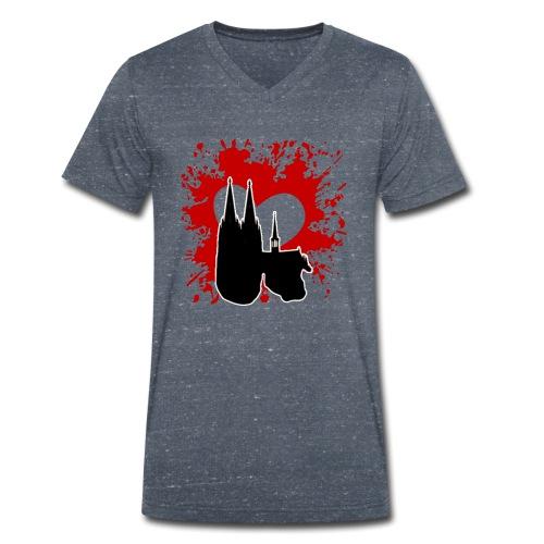Koelle Love - Männer Bio-T-Shirt mit V-Ausschnitt von Stanley & Stella