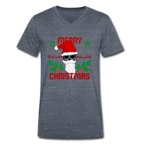 Merry Christmas Skull - Männer Bio-T-Shirt mit V-Ausschnitt von Stanley & Stella