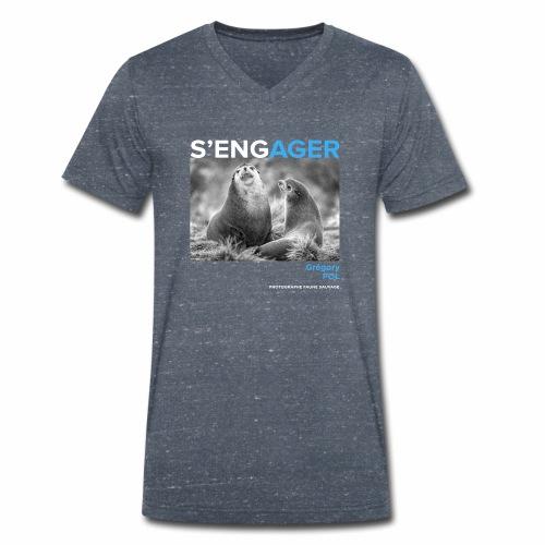 1 Achat = 1 Don au Centre de soin LPO Aquitaine - T-shirt bio col V Stanley & Stella Homme