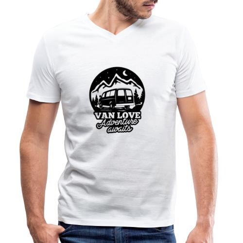 Van Love black - T-shirt ecologica da uomo con scollo a V di Stanley & Stella