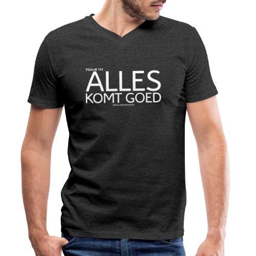 Alles komt goed PSALM 151 WIT - Mannen bio T-shirt met V-hals van Stanley & Stella
