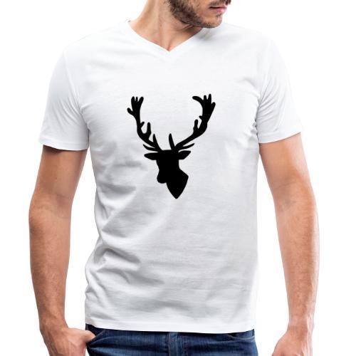 Hirch B - Männer Bio-T-Shirt mit V-Ausschnitt von Stanley & Stella