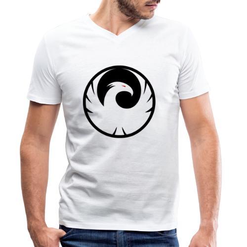 Phönix Logo Schattierung Phoenix schwarz black - Männer Bio-T-Shirt mit V-Ausschnitt von Stanley & Stella