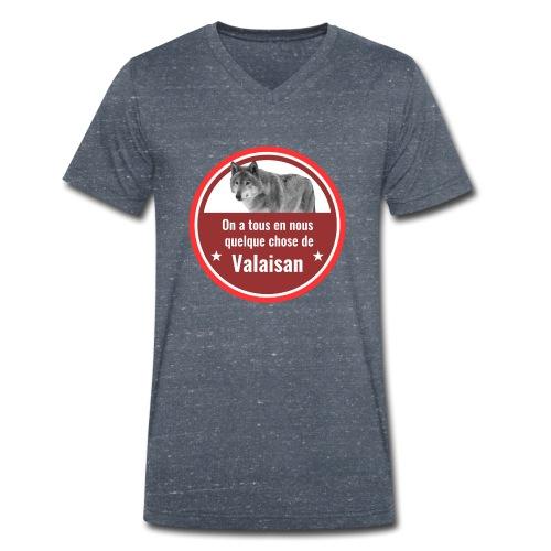 On a tous en nous qqch de Valaisan - Même le loup - Männer Bio-T-Shirt mit V-Ausschnitt von Stanley & Stella