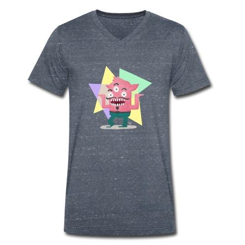 Dancing Monster - Männer Bio-T-Shirt mit V-Ausschnitt von Stanley & Stella