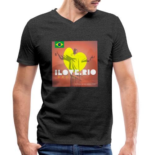 I LOVE RIO RADIO - Men's Organic V-Neck T-Shirt by Stanley & Stella