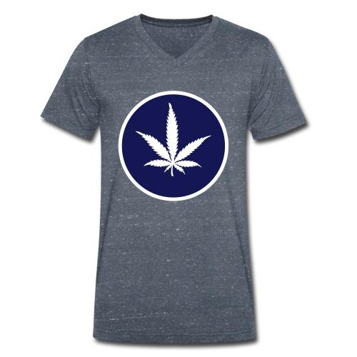 Hanferlaubnis - Männer Bio-T-Shirt mit V-Ausschnitt von Stanley & Stella