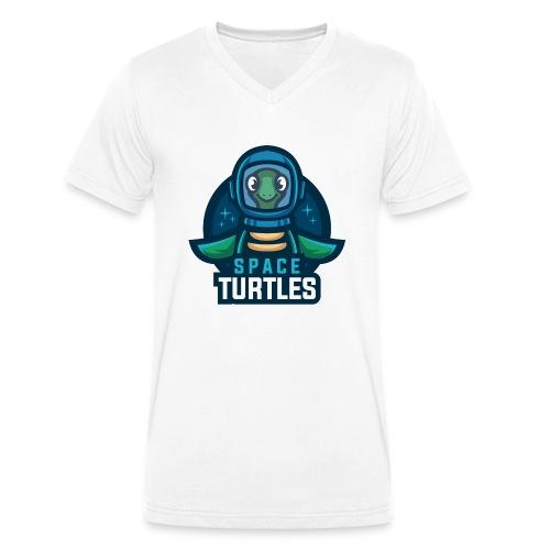 SpaceTurtles - Men's Organic V-Neck T-Shirt by Stanley & Stella