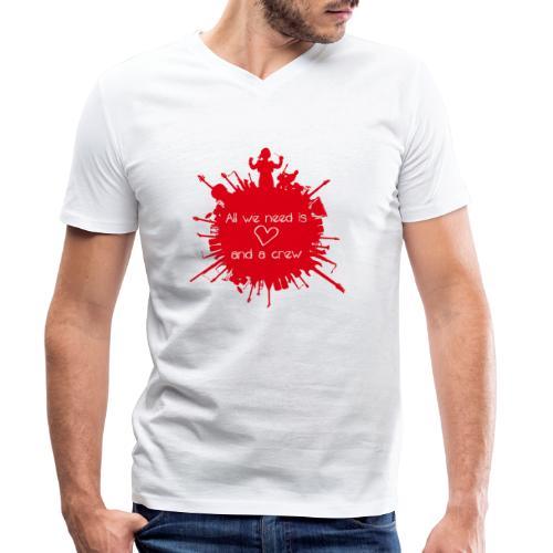 All we need is Love - Männer Bio-T-Shirt mit V-Ausschnitt von Stanley & Stella