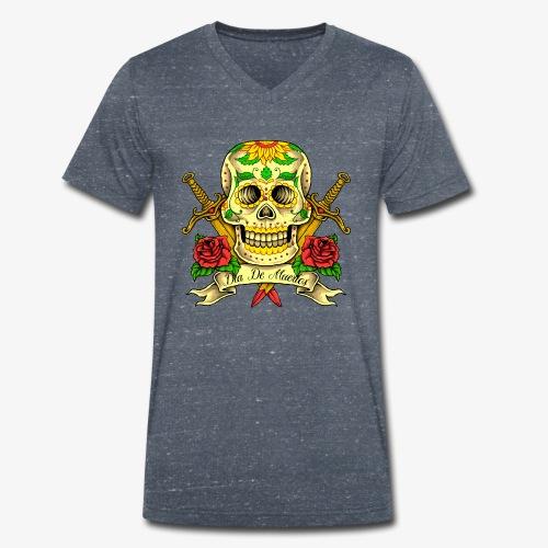 Schädel des Tages der Toten - Männer Bio-T-Shirt mit V-Ausschnitt von Stanley & Stella
