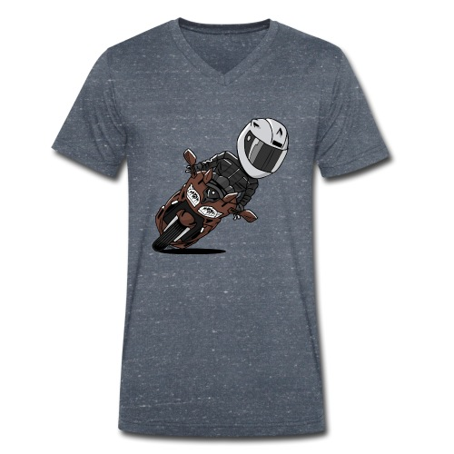 0791 FJR MagneticBronze - Mannen bio T-shirt met V-hals van Stanley & Stella