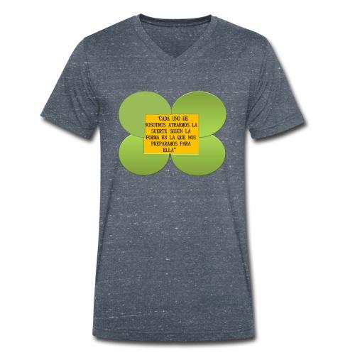 trebol de la suerte - Camiseta ecológica hombre con cuello de pico de Stanley & Stella