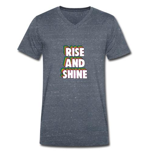 Rise and Shine Meme - Men's Organic V-Neck T-Shirt by Stanley & Stella