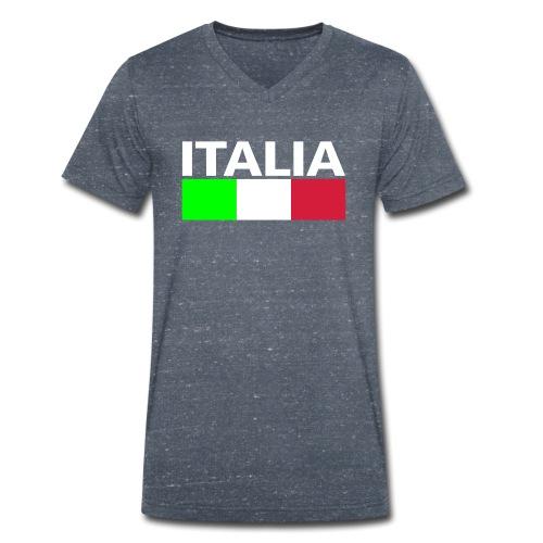Italia Italy flag - Men's Organic V-Neck T-Shirt by Stanley & Stella