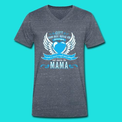 Mama Engel - Männer Bio-T-Shirt mit V-Ausschnitt von Stanley & Stella
