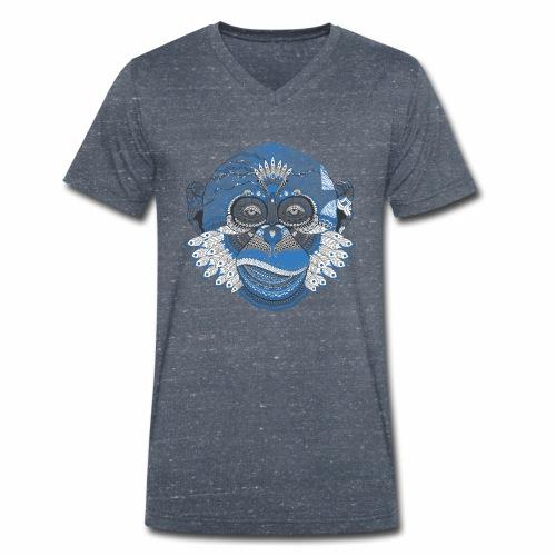 Affe - Männer Bio-T-Shirt mit V-Ausschnitt von Stanley & Stella