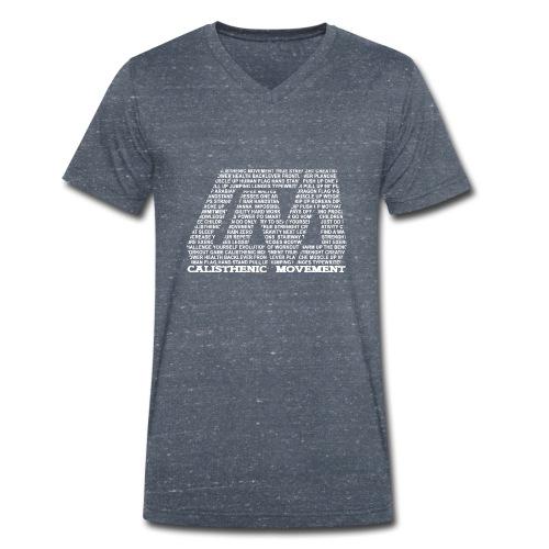 CM Logo aus Text weiß - Männer Bio-T-Shirt mit V-Ausschnitt von Stanley & Stella