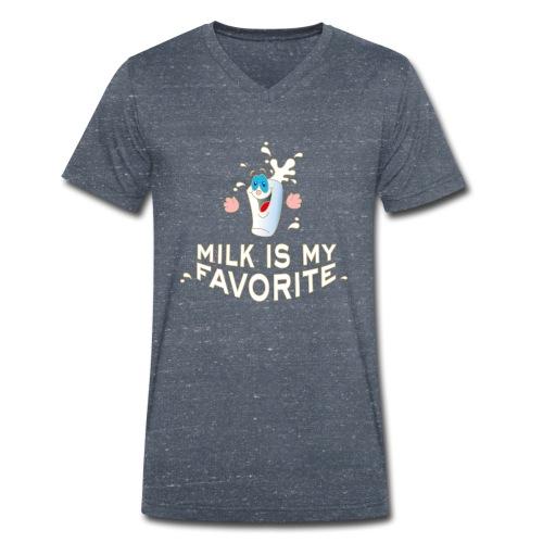 Milk is my favorite Milch Kaffee Sahne Kühe Bauern - Männer Bio-T-Shirt mit V-Ausschnitt von Stanley & Stella