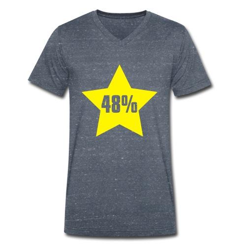 48% in Star - Men's Organic V-Neck T-Shirt by Stanley & Stella