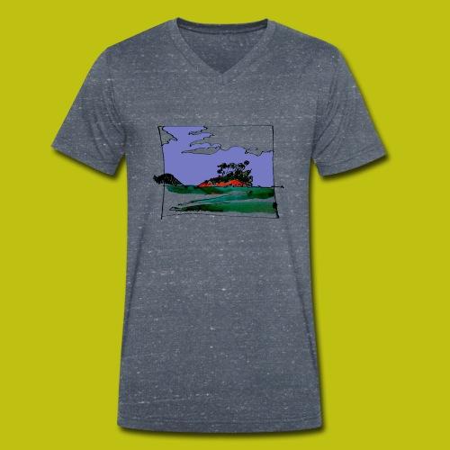 isla - Camiseta ecológica hombre con cuello de pico de Stanley & Stella