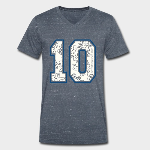 10.png - Männer Bio-T-Shirt mit V-Ausschnitt von Stanley & Stella