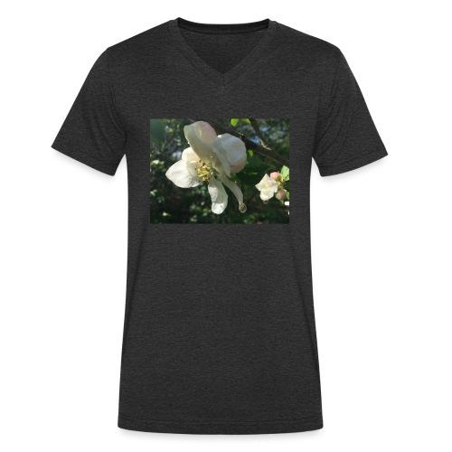 The Flower Shirt - Æble - Økologisk Stanley & Stella T-shirt med V-udskæring til herrer