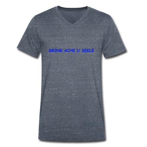 Gring ache u sekle - Männer Bio-T-Shirt mit V-Ausschnitt von Stanley & Stella
