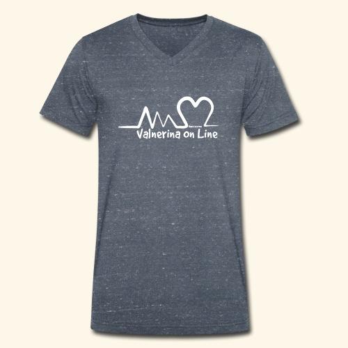 Valnerina On line APS maglie, felpe e accessori - T-shirt ecologica da uomo con scollo a V di Stanley & Stella