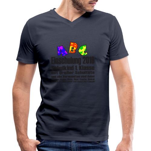 Einschulung Jahr 2019 - Männer Bio-T-Shirt mit V-Ausschnitt von Stanley & Stella