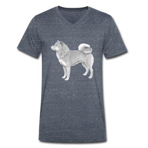 shiba inu - Økologisk Stanley & Stella T-shirt med V-udskæring til herrer