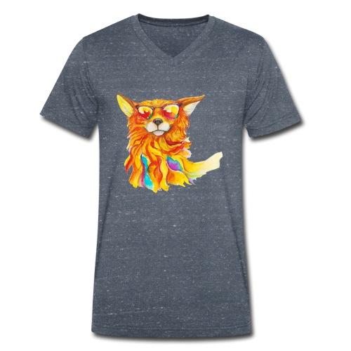 Cool windfox - Männer Bio-T-Shirt mit V-Ausschnitt von Stanley & Stella