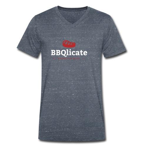 BBQlicate Logo - Männer Bio-T-Shirt mit V-Ausschnitt von Stanley & Stella