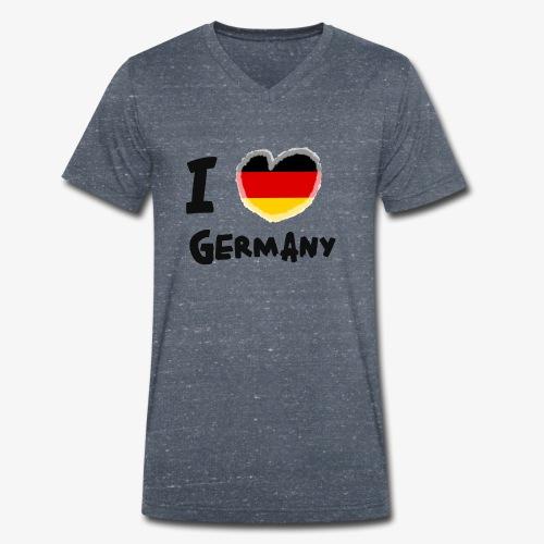 I Love Germany!!! - Männer Bio-T-Shirt mit V-Ausschnitt von Stanley & Stella
