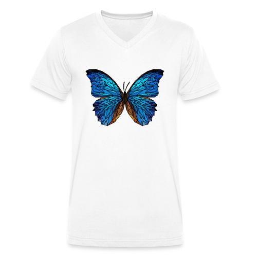 PAPILLON - LOW POLY (Outline) - T-shirt bio col V Stanley & Stella Homme