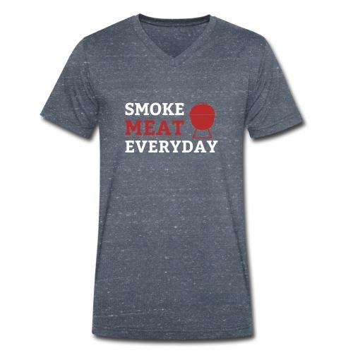 smoke meat everyday shirt - Männer Bio-T-Shirt mit V-Ausschnitt von Stanley & Stella