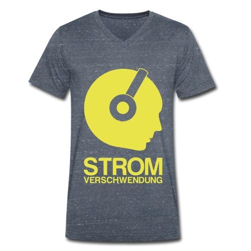shirtvorlage1 transparent white - Männer Bio-T-Shirt mit V-Ausschnitt von Stanley & Stella