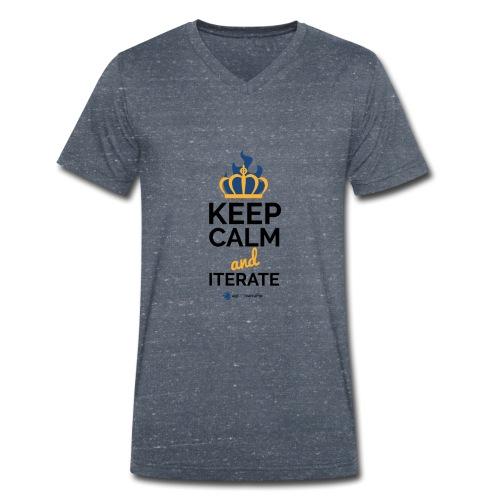 agiLE Leipzig | keep calm & iterate - Männer Bio-T-Shirt mit V-Ausschnitt von Stanley & Stella