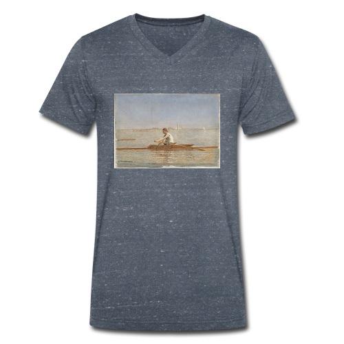 John Biglin in a Single Scull - Thomas Eakins - T-shirt bio col V Stanley & Stella Homme