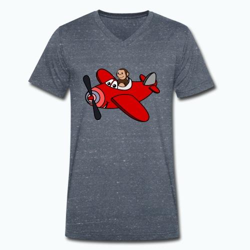 Monkey Moe - Appelsin - Ekologisk T-shirt med V-ringning herr från Stanley & Stella