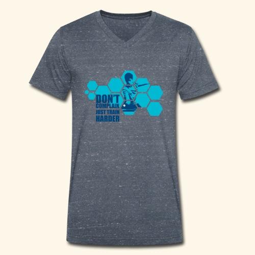 Don't Complain Just train hard Ping pong - Männer Bio-T-Shirt mit V-Ausschnitt von Stanley & Stella