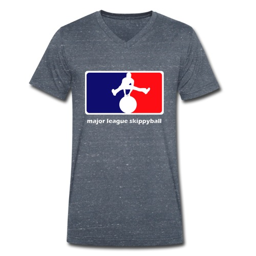 Major League Skippyball - Mannen bio T-shirt met V-hals van Stanley & Stella