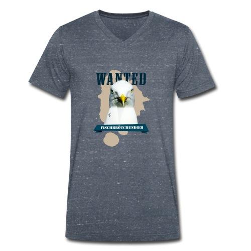 WANTED - Fischbrötchendieb - Männer Bio-T-Shirt mit V-Ausschnitt von Stanley & Stella