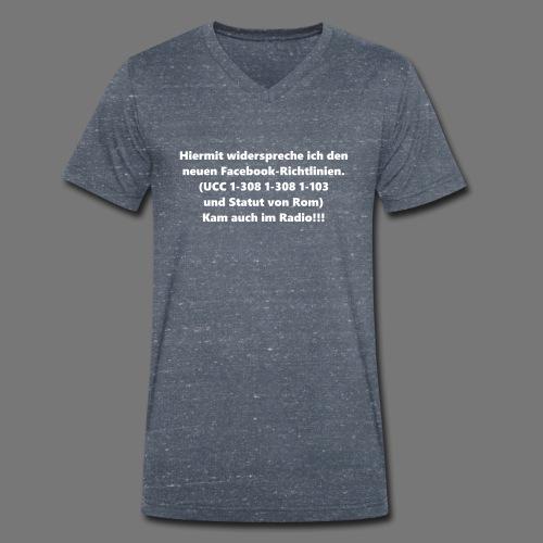 Facebook-AGB - Männer - Männer Bio-T-Shirt mit V-Ausschnitt von Stanley & Stella